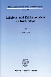 Cover Religions- und Ethikunterricht im Kulturstaat