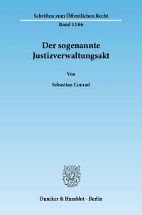 Cover Der sogenannte Justizverwaltungsakt