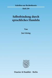 Cover Selbstbindung durch sprachliches Handeln