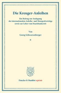 Cover Die Kreuger-Anleihen