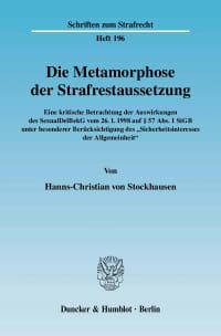 Cover Die Metamorphose der Strafrestaussetzung