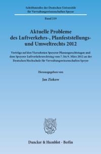 Cover Aktuelle Probleme des Luftverkehrs-, Planfeststellungs- und Umweltrechts 2012