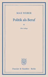 Cover Politik als Beruf
