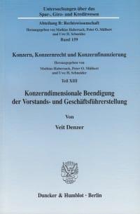 Cover Konzerndimensionale Beendigung der Vorstands- und Geschäftsführerstellung
