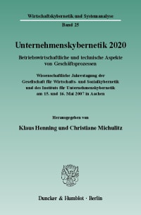Cover Unternehmenskybernetik 2020