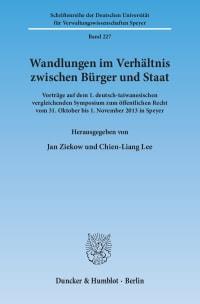 Cover Wandlungen im Verhältnis zwischen Bürger und Staat