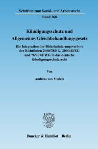 Cover Kündigungsschutz und Allgemeines Gleichbehandlungsgesetz