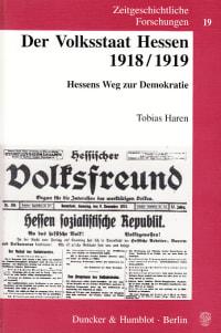 Cover Der Volksstaat Hessen 1918/1919