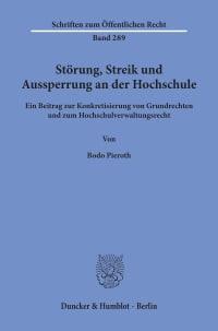 Cover Störung, Streik und Aussperrung an der Hochschule