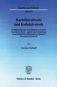 Cover Kartellstrafrecht und Kollektivstrafe