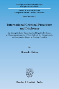 Cover International Criminal Procedure and Disclosure