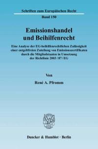 Cover Emissionshandel und Beihilfenrecht
