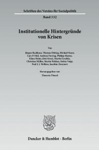 Cover Institutionelle Hintergründe von Krisen