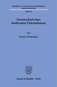 Cover Formwechsel eines insolventen Unternehmens