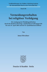 Cover Vermeidungsverhalten bei religiöser Verfolgung