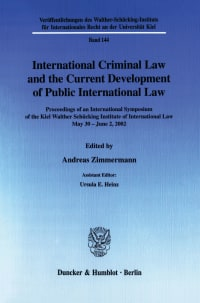 Cover International Criminal Law and the Current Development of Public International Law