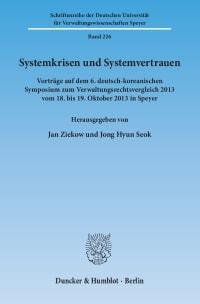 Cover Systemkrisen und Systemvertrauen