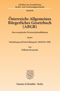 Cover Österreichs Allgemeines Bürgerliches Gesetzbuch (ABGB)