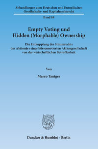 Cover Empty Voting und Hidden (Morphable) Ownership