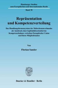 Cover Repräsentation und Kompetenzverteilung