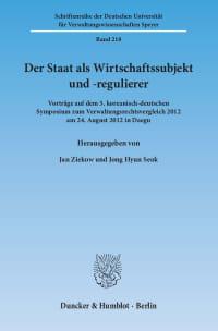 Cover Der Staat als Wirtschaftssubjekt und -regulierer