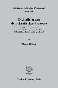Cover Digitalisierung demokratischer Prozesse