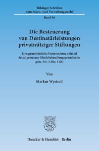 Cover Die Besteuerung von Destinatärleistungen privatnütziger Stiftungen