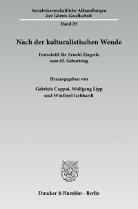 Cover Nach der kulturalistischen Wende