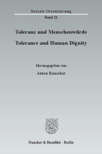 Cover Toleranz und Menschenwürde / Tolerance and Human Dignity