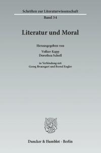 Cover Literatur und Moral