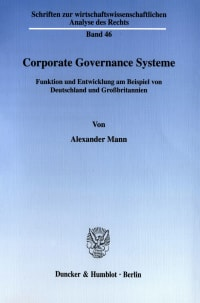 Cover Corporate Governance Systeme