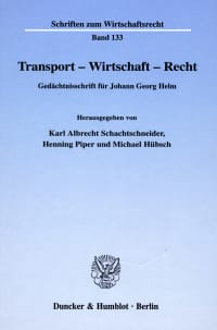 Cover Transport - Wirtschaft - Recht