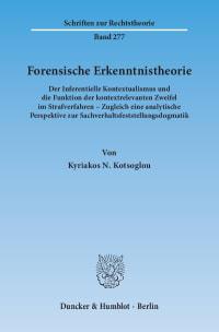 Cover Forensische Erkenntnistheorie