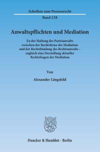 Cover Anwaltspflichten und Mediation