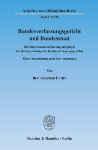 Cover Bundesverfassungsgericht und Bundesstaat
