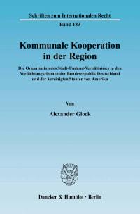 Cover Kommunale Kooperation in der Region