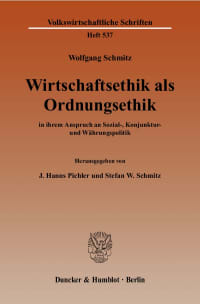 Cover Wirtschaftsethik als Ordnungsethik