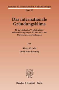 Cover Das Internationale Gründungsklima