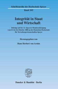 Cover Integrität in Staat und Wirtschaft