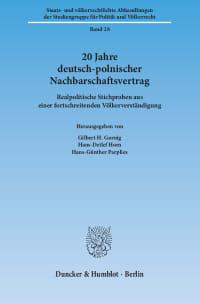 Cover 20 Jahre deutsch-polnischer Nachbarschaftsvertrag