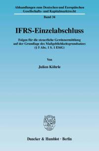 Cover IFRS-Einzelabschluss