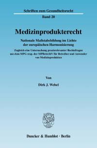 Cover Medizinprodukterecht