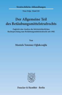 Cover Der Allgemeine Teil des Betäubungsmittelstrafrechts