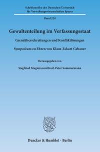 Cover Gewaltenteilung im Verfassungsstaat