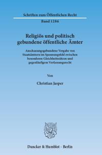 Cover Religiös und politisch gebundene öffentliche Ämter