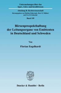 Cover Börsenprospekthaftung der Leitungsorgane von Emittenten in Deutschland und Schweden