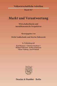 Cover Markt und Verantwortung