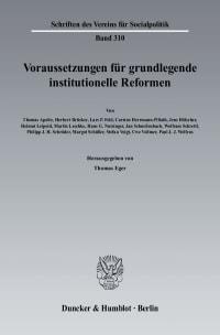 Cover Voraussetzungen für grundlegende institutionelle Reformen