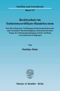 Cover Rechtsschutz im Emissionszertifikate-Handelssystem