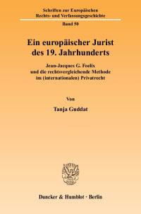 Cover Ein europäischer Jurist des 19. Jahrhunderts